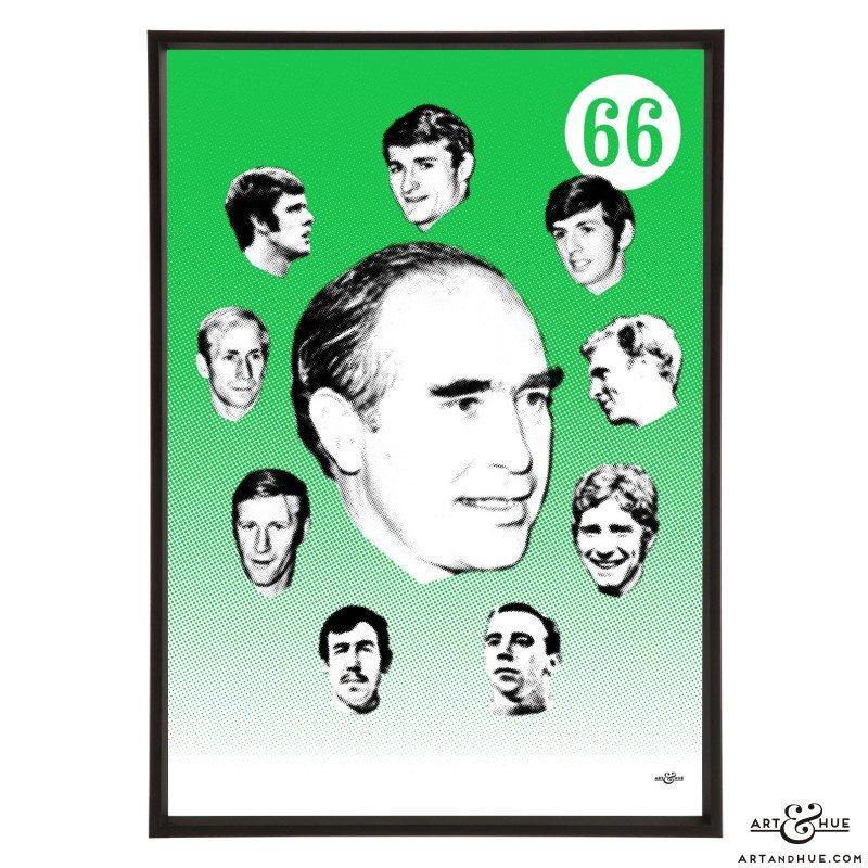 Alf Ramsey stylish pop art print by Art & Hue