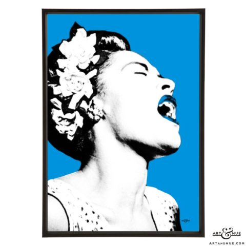 Billie Holiday pop art prints by Art & Hue