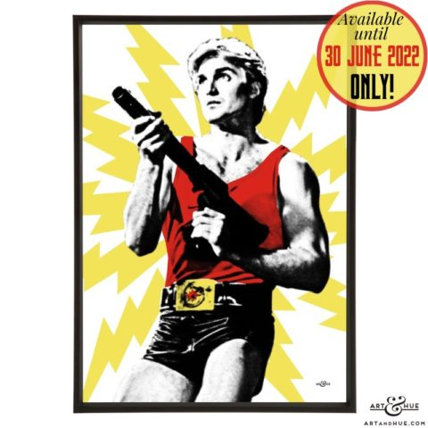 Blaster pop art with Flash Gordon by Art & Hue