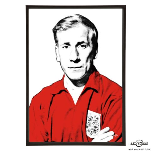 Bobby Charlton stylish pop art print by Art & Hue