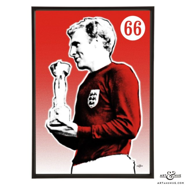 Bobby Moore stylish pop art print by Art & Hue