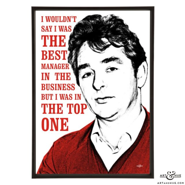Brian Clough stylish pop art print by Art & Hue