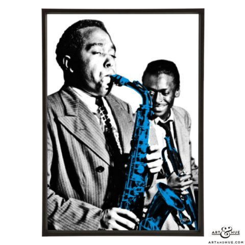 Charlie Parker & Miles Davis pop art prints by Art & Hue