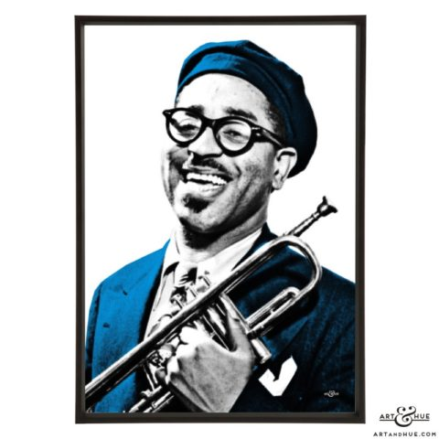Dizzy Gillespie pop art prints by Art & Hue