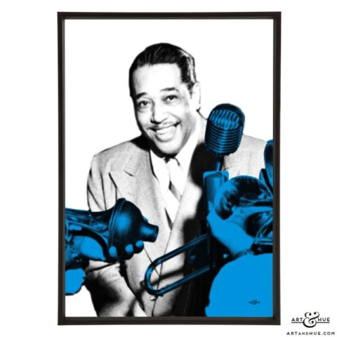 Duke Ellington stylish pop art prints by Art & Hue