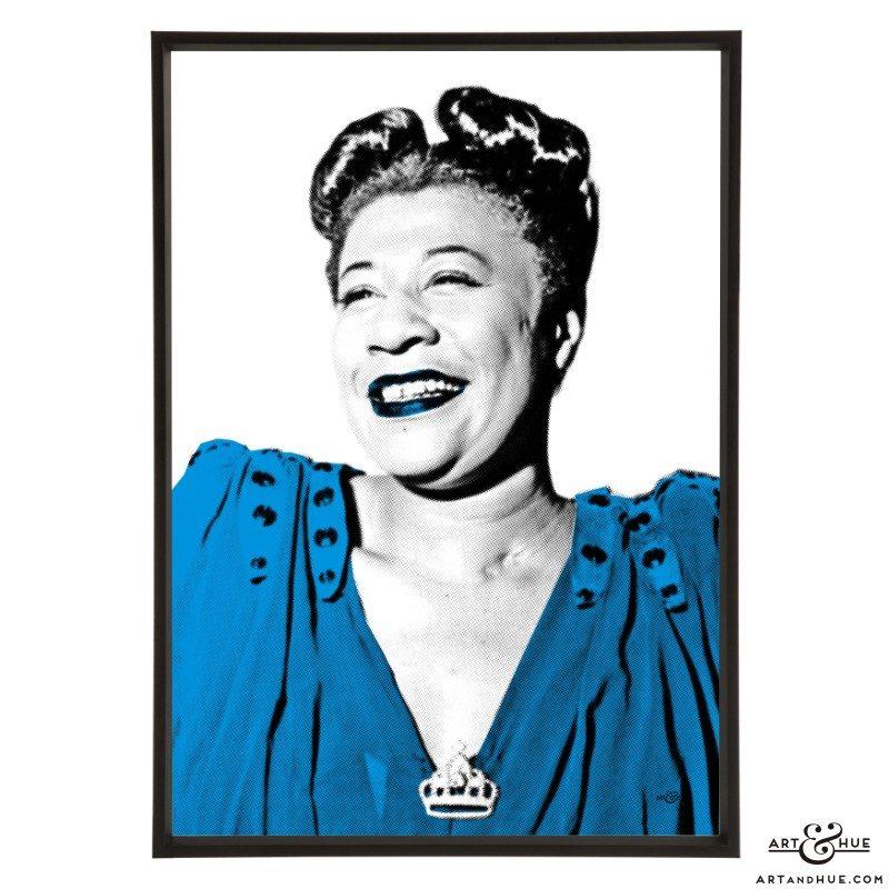 Ella Fitzgerald pop art prints by Art & Hue