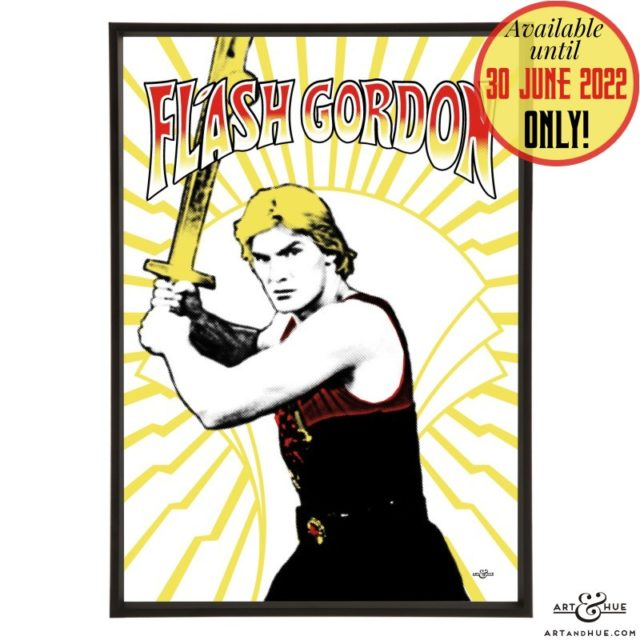 Flash Gordon pop art with Sam J Jones by Art & Hue