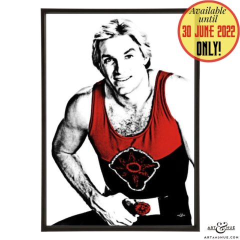 Flash pop art with Sam J Jones as Flash Gordon by Art & Hue