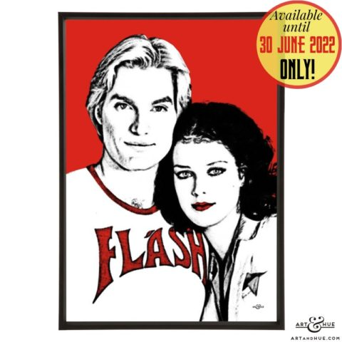 Flash & Dale pop art with Sam J. Jones & Melody Anderson in Flash Gordon by Art & Hue