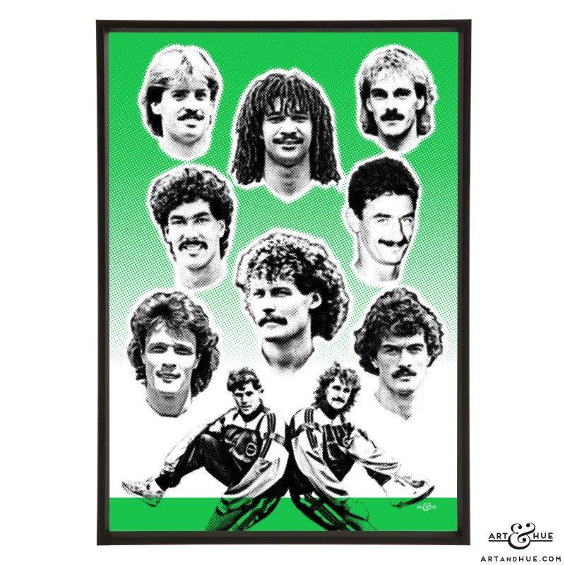 Footballer Hairstyles stylish pop art print by Art & Hue