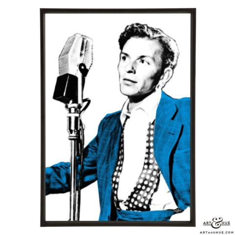 Frank Sinatra stylish pop art prints by Art & Hue
