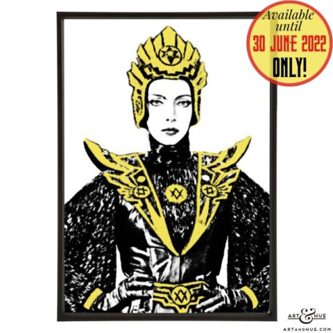 General Kala pop art with Mariangela Melato in Flash Gordon by Art & Hue