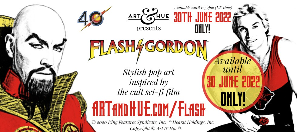 Art & Hue presents Flash Gordon stylish pop art prints
