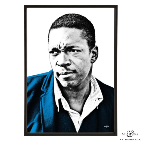 John Coltrane pop art prints by Art & Hue