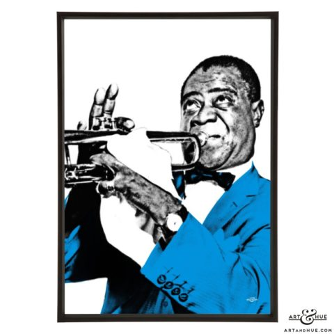 Louis Armstrong pop art prints by Art & Hue