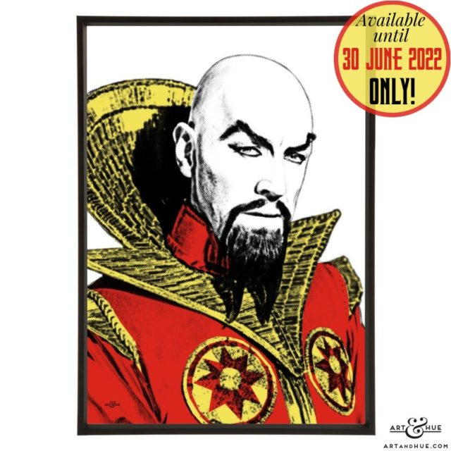 Ming the Merciless pop art with Max von Sydow in Flash Gordon by Art & Hue
