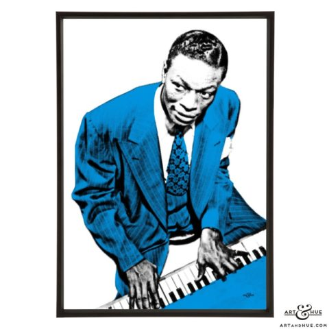 Nat King Cole stylish pop art prints by Art & Hue