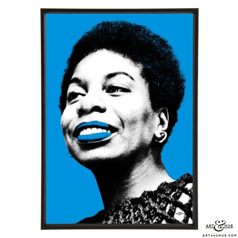 Nina Simone pop art prints by Art & Hue