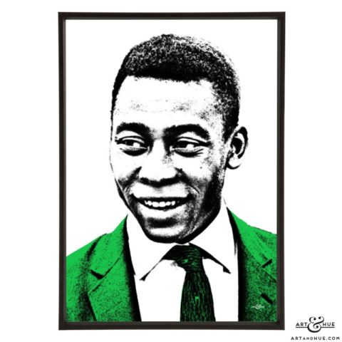 Pelé stylish pop art print by Art & Hue