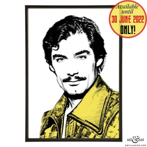 Prince Barin pop art with Timothy Dalton in Flash Gordon by Art & Hue