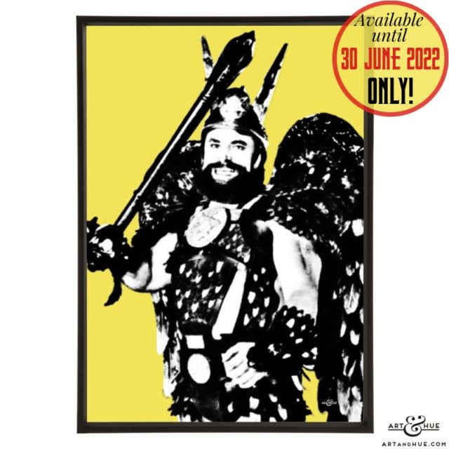 Prince Vultan pop art with Brian Blessed in Flash Gordon by Art & Hue