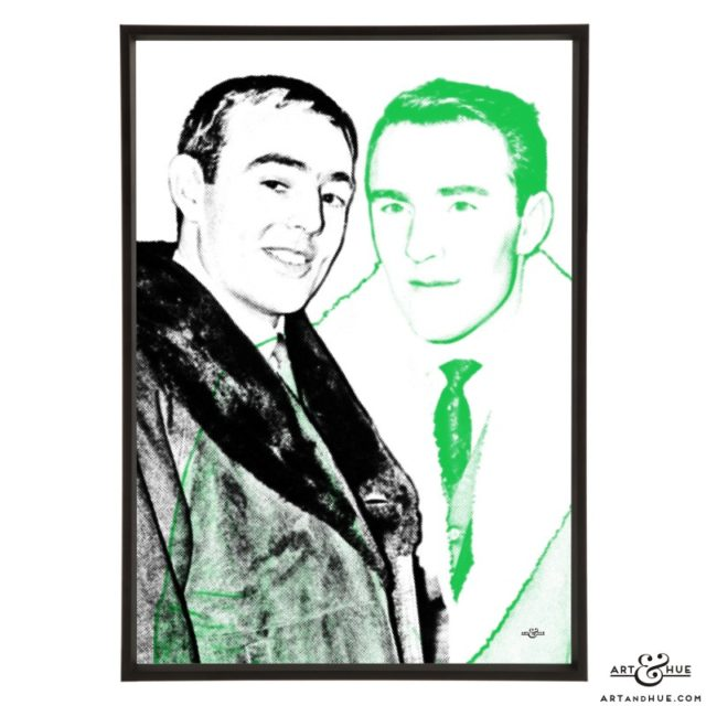 Saint and Greavsie stylish pop art print by Art & Hue