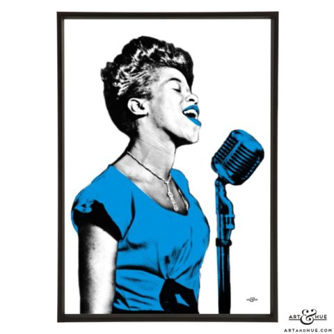 Sarah Vaughan pop art by Art & Hue