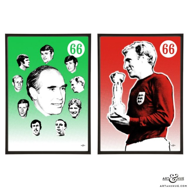 1966 Pair of stylish pop art prints by Art & Hue