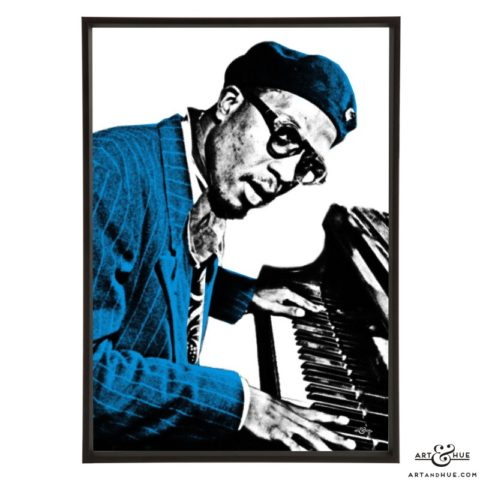 Thelonious Monk pop art prints by Art & Hue