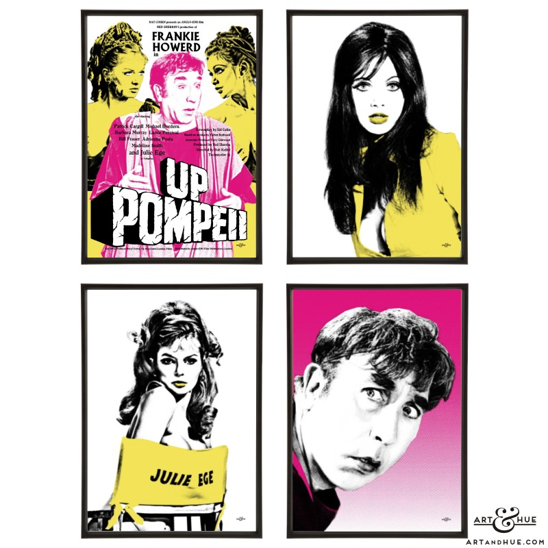 Group of 4 Up Pompeii pop art prints by Art & Hue