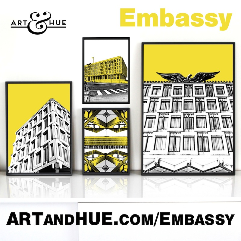 Embassy pop art collection by Art & Hue