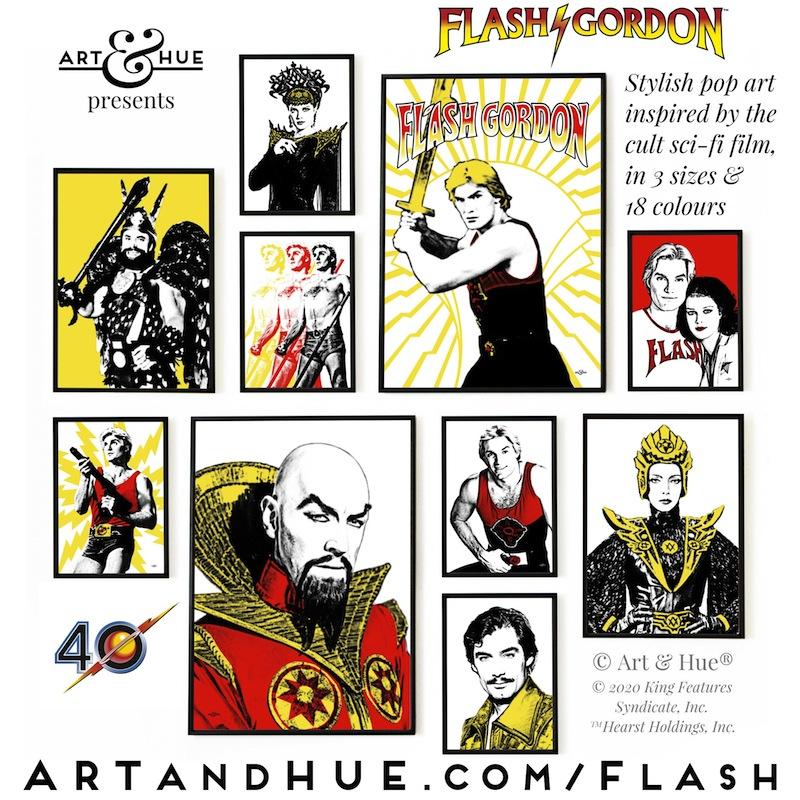 Flash Gordon pop art collection by Art & Hue