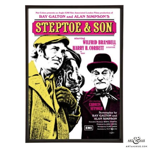 Steptoe & Son poster stylish pop art prints by Art & Hue