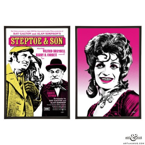 Steptoe & Son with Patrick Fyffe pair of pop art prints