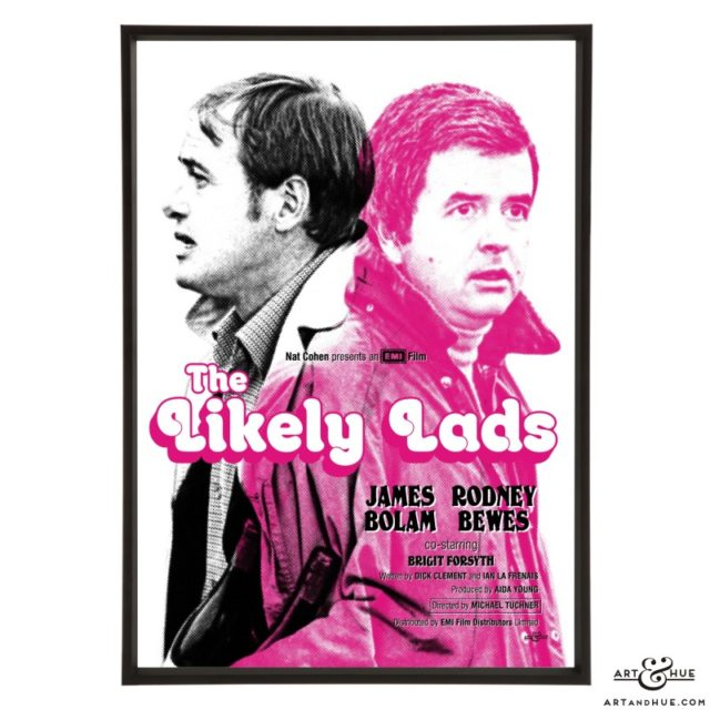 The Likely Lads film poster pop art print by Art & Hue