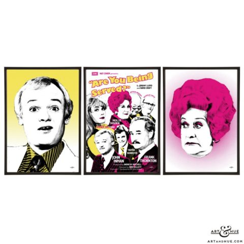 Grace Bros Trio of pop art prints by Art & Hue