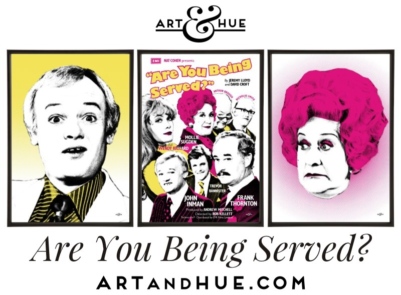 Grace Bros Trio of pop art prints by Art & Hue
