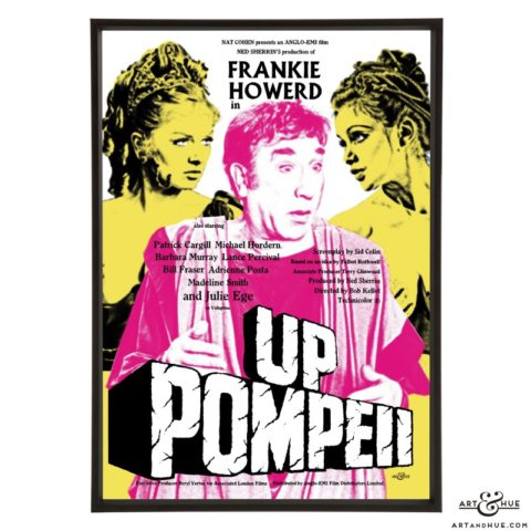 Up Pompeii stylish pop art print by Art & Hue