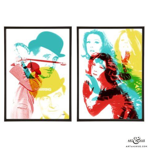 The Avengers Titles Pop art by Art & Hue