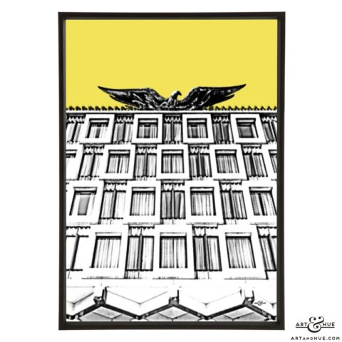 Embassy American Eagle stylish pop art print by Art & Hue