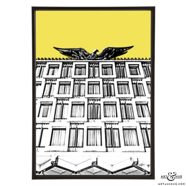 Embassy American Eagle stylish pop art print by Art & Hue