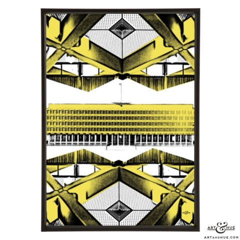 Embassy Architecture stylish pop art print by Art & Hue