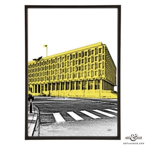 Embassy Grosvenor Square London stylish pop art print by Art & Hue