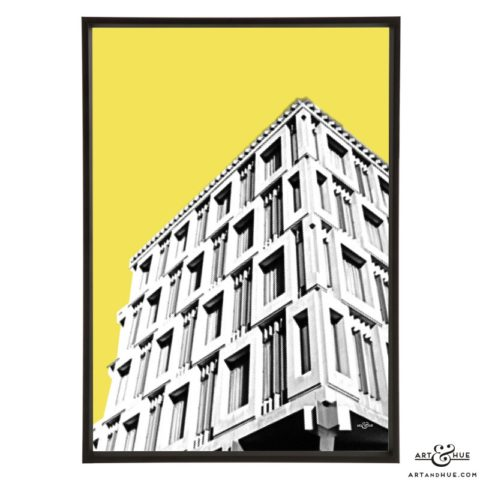 Embassy London stylish pop art print by Art & Hue