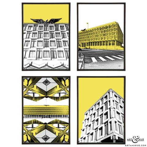 Embassy American London stylish pop art prints by Art & Hue
