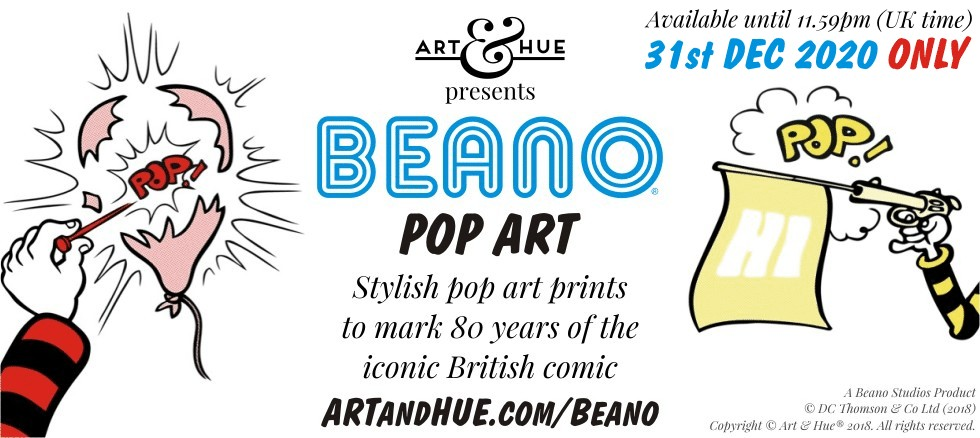 Art & Hue presents BEANO pop art