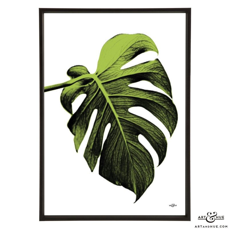 Leaf stylish pop art print by Art & Hue