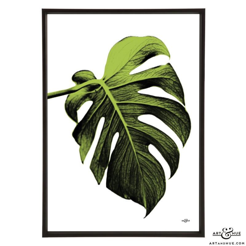 Leaf stylish pop art print by Art & Hue
