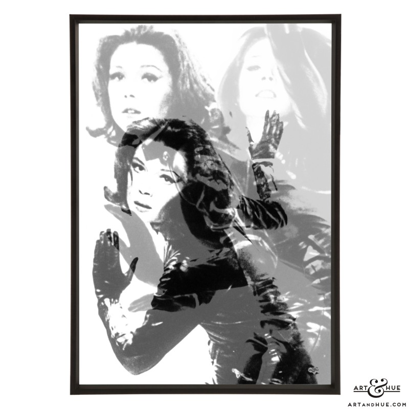 Mrs Peel Titles Pop art in Greys by Art & Hue