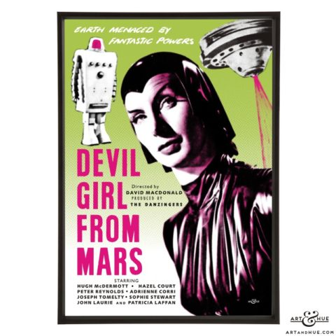Devil Girl from Mars Poster stylish pop art print by Art & Hue